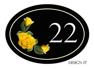 House,door,caravan name or number New Oval Designs Plaque/sign PERSONALISED FREE