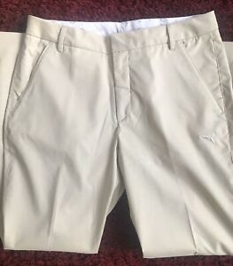 Mens Puma Sport Lifestyle Golf Pants Tan Size 32x30