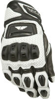 FLY RACING FL2-S LEATHER GLOVES W/ ARMOR WHITE MENS TOUCH SCREEN