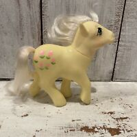 Vintage G1 1984 MLP My Little Pony POSEY Earth Pony With Pink Tulips
