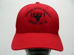 CUTTING EDGE FITNESS - MOLALLA, OREGON - RED - L/XL SIZE FLEXFIT BALL CAP HAT!