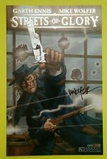 GARTH ENNIS & MIKE WOLFER STREETS OF GLORY 3 PLATUNUM EDITIONS w/ SIGNED PREVIEW