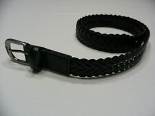 "LEVI'S - BLACK - BONDED LEATHER - LARGE 30-32 SIZE - 1"" BELT!"