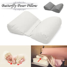 White/Gray Newborn Photography Posing Butterfly Pillow Poser Backdrop Photo Prop