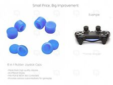 BLUE Joystick Caps 8pc PS4 Controller 100% Silicone Extender XBOX 360 thumbstick