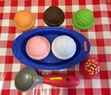 Pretend Fun Play Food ICE CREAM + Scoop Dish Lot Desserts Sweets Treats Daycare
