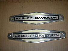 Harley Davidson  OEM 61771-66TB 1966-1972 GAS TANK NAMEPLATES Free Shipping