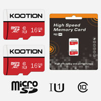 2 Pack 16G Micro SD Card SDHC Flash TF Card Class 10 Memory Card U1 Storage Card