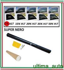 PROFESSIONALE ANTIGRAFFIO PELLICOLA OSCURANTE PER VETRI AUTO NERO 5% 76cm x 3m