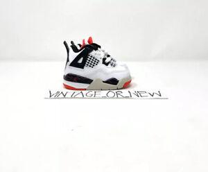 DS Nike Air Jordan IV 4 Pale Citron 2019 Retro BT Toddler BQ7670-116 sz 2C
