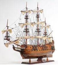 """Hms Fairfax Royal Navy Tall Ship 35"""" Handmade Wood Model Sailboat Assembled"""