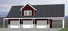 40x30 3-Car Garage with Carport -- 2,065 sqft -- PDF Floor Plan -- Model 9A