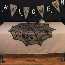 Spider Web Round Spider Halloween Fireplace Table Topper Tablecloth Decoration