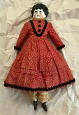 Vintage Porcelain And Cloth Doll