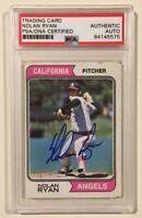 1974 Topps NOLAN RYAN Signed Autographed Baseball Card PSA/DNA #20