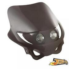 Plaque phare noire double optique Neuf moto cross enduro TT 50 à boite