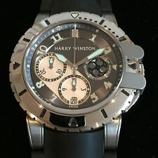 Fully Serviced By Harry Winston PLATINUM  & ZALIUM Project Z2 Ocean Diver Chrono