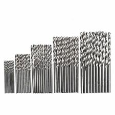 50Pcs 1/1.5/2/2.5/3mm HSS Titanium Plated Metric Twist Auger Drill Bit Set Tool