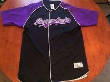 Arizona Diamondbacks Vintage Baseball Jersey True Fan Purple Black Sewn L 42-44