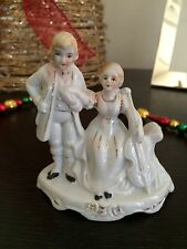 ANTIQUE FIGURINE RENAISSANCE COUPLE