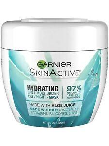 Garnier SkinActive 3-in-1 Face Moisturizer with Aloe, For Dry Skin, 6.75 Oz