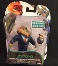 Disney Zootopia Mayor Lionheart and Lemming Businessman Figures New Tomy