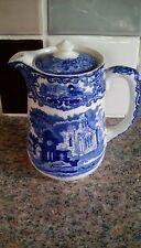 19th c Blue & White Water Jug - George Jones & Sons Abbey Pattern