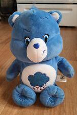 "Care Bears ""Grumpy Bear"" Aminated Plush Blue Clouds & Rain 2015 TALKS"
