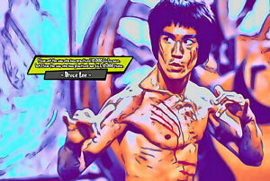 Bruce Lee Comic Icons Art Print (Available In 4 Formats)