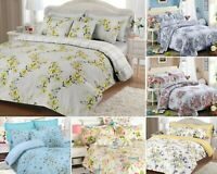 LUXURY BEDDING SET PRINT DUVET COVER 100% COTTON SINGLE DOUBLE KING & PILLOWCASE