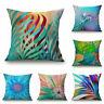"18"" Colors Flower Home Cotton Linen Car Bed Sofa Pillow Case Waist Cushion Cover"