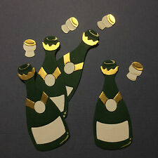 Champagne Wine Bottles Drink Celebrate Congratulations Die Cuts (Toppers)