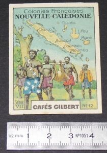 CHROMO 1936 CAFES GILBERT COLONIES FRANCAISES NOUVELLE-CALEDONIE KANAKS NOUMEA
