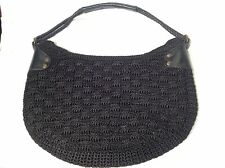 The Sak Original black woven shoulder bag  medium size excellent condition