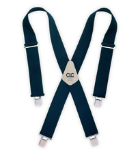 Blue Work Suspenders Adjustable Padded Electrician Carpenter Tool Utility Belt