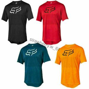FOX Herren Radfahren Jersey Mountainbike T-Shirt MTB Racing Motocross Kurzarm !!