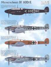 Iliad Decals 1/48 MESSERSCHMITT Bf-110D Bf-110E Fighter