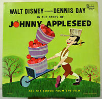 "12"" 33 RPM MONO LP - DISNEYLAND DQ-1260 - THE STORY OF JOHNNY APPLESEED (1964)"
