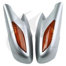 Plastic Silver Rear View Mirrors Orange Turn Signals Lens For Honda ST1300 02-11