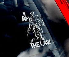 Dredd - Car Window Sticker - 'I Am The Law' - Judge Dredd Sign Marvel Comic