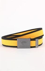 Diamond Supply Co Shine Forever Scout Mens Yellow Black Web Belt OSFA New NWT
