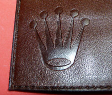 Authentic Rolex Genuine Leather Bi-Fold Wallet with Embossed Rolex Logo