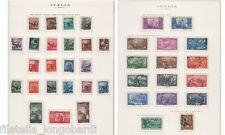 ITALIA 1945/1970 collezione cpl. timbrati (senza Ginnici) su fogli King  -LF20