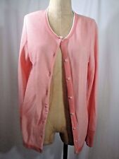 CONTE OF FLORENCE Cotton Cardigan Sweater Size Large