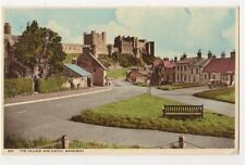 The Village & Castle, Bamburgh 1963 Postcard, B588