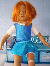 "Leotardo & Falda Hecha A Mano Ideal Para Muñeca American Girl 18"" Moda Pez Azul"