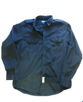 VTG Polo Ralph Lauren Mens Size Large Button Up Shirt Black Crest PRLC Assoc.