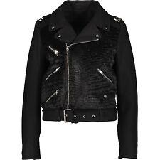 THE KOOPLES Black Asymmetric Zip Women's Jacket