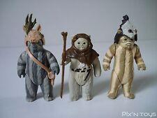 Figurine originales Star Wars Vintage X3 Ewok - Logray, Chief Chirpa, Teebo 1983