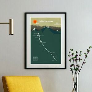 Col du Tourmalet Tour de France Print - cycling climb biking racing Poster